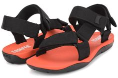 Camper-Match-18824-033-Mens-Black-Orange-Casual-Outdoor-Lifestyle-Velcro-Sandals