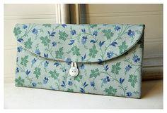 woodland flowers Clutch Purse, moss Bridesmaid Clutch, bridesmaid gift, flowers purse, Wedding Gift, bridal clutch, wedding clutch