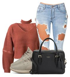 """""""Untitled #991"""" by princessjay003 ❤ liked on Polyvore featuring WithChic, adidas, Machine and Kate Spade"""