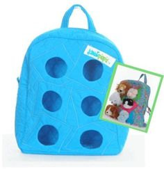The JackPack Groovy Blue by Jackpopz. $9.99. 100% quilted cotton. 6 peekaboo holes for Webkinz or other plush animal friends. Adjustable straps. The JackPack is the perfect home for Webkinz and other plush animals on the go! Take your 6 favorite plush friends along while they pop their heads out to see the world!. Save 50%!