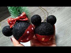 Disney Christmas Crafts, Mickey Mouse Christmas Tree, Mickey Mouse Ornaments, Disney Crafts, Pink Christmas, Xmas Crafts, Mimi Y Mickey, Mickey Y Minnie, Bricolage