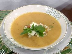 Cold Heirloom Tomato Soup with Tropical Lobster Relish