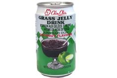 Chin Chin Boisson Aux Gelees Dherbe Arome De Noix De Coco (Grass Jelly Drink Coconut Flavour) - 10.7fl Oz (Pack of 1)