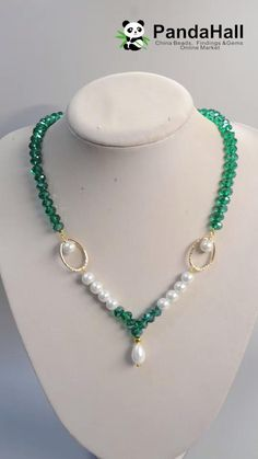 Wire Jewelry Designs, Beaded Jewelry Patterns, Jewelry Crafts, Diy Necklace Patterns, Handmade Pearl Jewelry, Handmade Necklaces, Bead Jewellery, Fashion Jewelry Necklaces, Pearl Necklaces