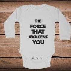 The Force Than Awakens You Funny Onesie or Bib _ Baby Crawlers _ Funny Onesies _ Custom Bibs _  Star Wars Baby Onesies _ Prime Decals