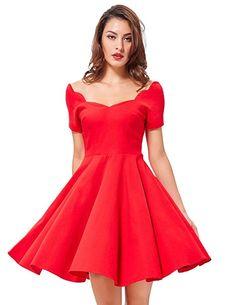 b839e8eca8d2ca Off The Shoulder 50s Church Dresses Swing Party Dress (Black