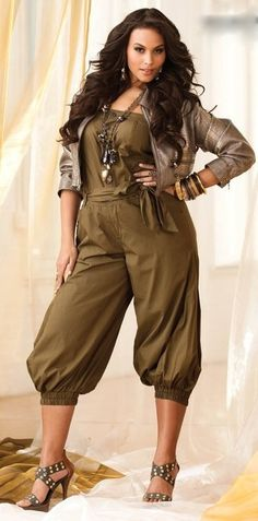 Cute Jumpsuit Ashley Stewart Womens Plus Size Fashion Unique Style Inspiration Urban Apparel #UNIQUE_WOMENS_FASHION