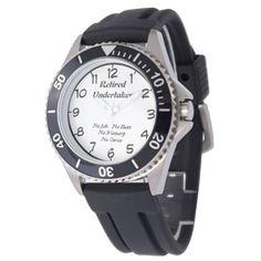 Retired Undertaker Wrist Watch - cyo diy customize unique design gift idea perfect