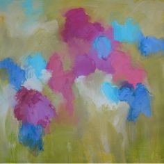 """Art Excuse Springtime in the Land of Joy by Aslen Creative Original Painting on Wrapped Canvas Size: 50"""" H x 50"""" W x 1.5 """" D"""
