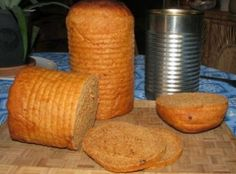 two greased 1-pound coffee cans half full with dough and place greased plastic lids on the cans. let rise in warm place until lids pop off. 3 bake 45 min.at 350*