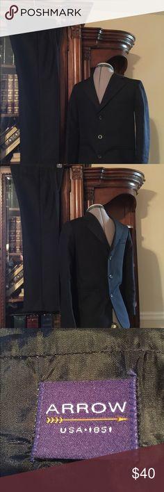 ARROW Suit Boys 12 Reg - NWOT ARROW, Boys Size 12 Regular, 2 Piece, Black, Jacket Lined, Suit New Without Tags Arrow Jackets & Coats Blazers