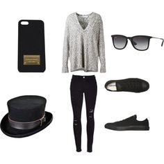 style by americanescapestyle on Polyvore featuring güzellik, Ray-Ban, Michael Kors, Dion Lee, Frame Denim and Converse