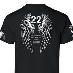 Our end 22 veteran suicides a day shirt. Raising awareness one shirt at a time.