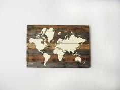 Bekijk 'Landkaart op steigerhout' op Woontrendz ♥ Dagelijks woontrends ontdekken en wooninspiratie opdoen!