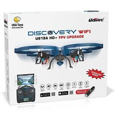 UDI U818A WiFi FPV RC Quadcopter Drone with HD Camera - VR Headset Compatible - Headless Mode Low Voltage Alarm Gravity Induction - Includes BONUS BATTERY  Power Bank
