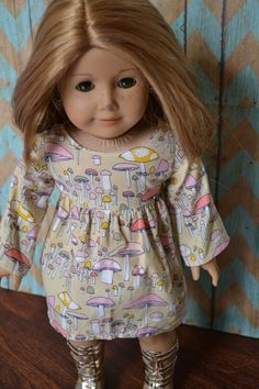 American Girl Doll Clothes  Mushroom Forest by camelotstreasures