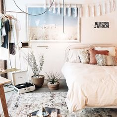 Urban Outfitters bedroom // shop the look: Plum & Bow Tassel Garland Banner – Tessa Neustadt Horse Art Print – Net Tassel Bolster Pillow – Gold Clothing Rack Follow Gravity Home: Blog - Instagram - Pinterest - Bloglovin - Facebook