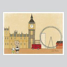 Nursery Art Print Flying Umbrella - Kids Decor from www.artollo.com