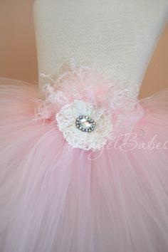 Heirloom Tutu in Ballet Pink l AngelBabes Tutus by angelbabes, $23.99