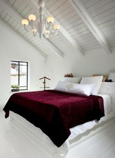 50 - Maroon Bedroom Design