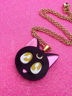 Sailor Moon Luna Cat Necklace by GeekyWears on Etsy