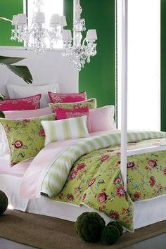 Tommy Hilfiger Bed & Bath Rooftop Terrace Queen Duvet/Sham Set - Kiwi/Pink on HauteLook
