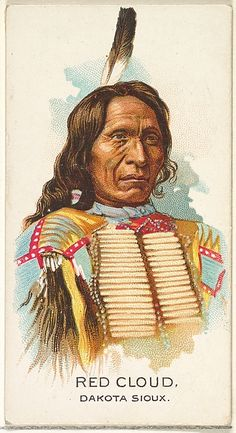 Red Cloud, Dakota Sioux, from the American Indian Chiefs series (N2) for Allen & Ginter Cigarettes Brands