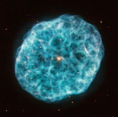 This image was captured using Hubble's Wide Field Planetary Camera 2, the camera responsible for many of the telescope's most beautiful images. It shows the appropriately nicknamed Oyster Nebula (more formally known as NGC 1501), a candescent cloud some 5000 light-years away from Earth in the constellation of Camelopardalis.