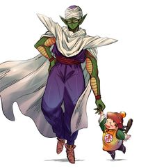DBZ Piccolo and Gohan Why Piccolo is not my father? Pretty Cure, Goten E Trunks, Totoro, Manga Dragon, Dragon Ball Z Shirt, Arte Sailor Moon, Z Arts, Manga Anime, Anime Art