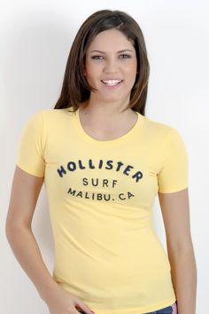 Camiseta Feminina Hollister Co Amarela