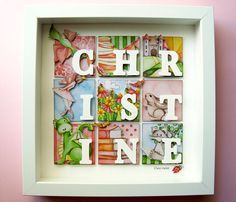 CHRISTINE Personalized 3D Framed Name Art Fairy by IpsyDoodles