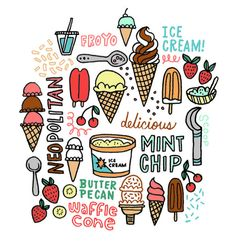 I scream for ice cream - leftylettering.com | kristin nohe. http://leftylettering.com/