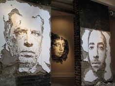 15 Street Art Portraits Chiseled Into Walls