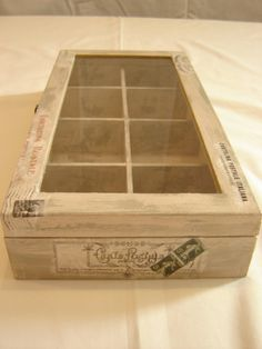 Wooden Tea Box With Glass Lid Decorated With by ConstantiaArtCraft, €25.90