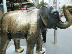 Mali in Bourke St Mall - mall elephant by annieb, via Flickr