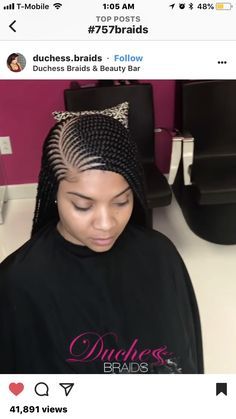 braid hairstyles hairstyles nigerian braided hairstyles braid hairstyles hairstyles with 4 packs of hair hairstyles mean hairstyles on black hair hairstyles with afro puff Box Braids Hairstyles, Lemonade Braids Hairstyles, My Hairstyle, African Hairstyles, Girl Hairstyles, Black Girl Braids, Braids For Black Hair, Girls Braids, Ghana Braids