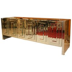 Ello Mirrored Credenza from #LasVenus // I want this in an all- black (grayish black) dining room.
