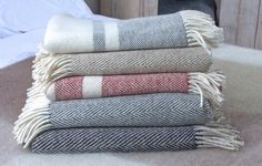 Irish heavy herringbone weave throw to bring a cosy feel into your home. Perfect for any interior, our woven throws are wonderfully simple yet luxuriously cosy. Cottage Living, Living Room, Inspirational Gifts, Beautiful Interiors, Woven Fabric, Herringbone, Wool Throws, Cushions, Throw Pillows