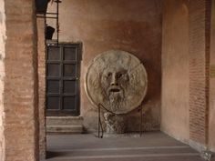 "Bocca Della Verità, or in English ""The Mouth of Truth"" is a circular marble sculpture located in the portico of the Paleochristian church of Santa Maria Santa Maria, Rome, Marble, Painting, Prompts, English, Art, Truths, Mouths"