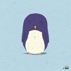 My Belly is a Polar Bear Doodle Everyday 29 Dec 2010 Penguin Art, Penguin Love, Kids Prints, Art Prints, Love Doodles, Cute Illustration, Illustrations Posters, Cute Animals, Character Design