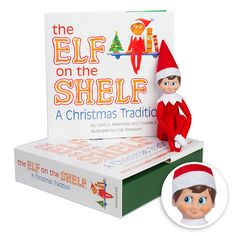 The Elf on the Shelf® A Christmas Tradition front packaging with light skin boy