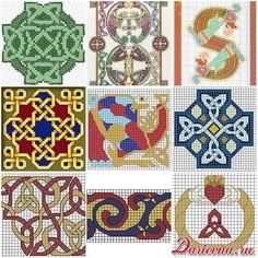 Nine free cross-stitch celtic patterns. Девять бесплатных схем для вышивки кельтских орнаментов.