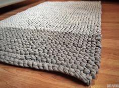 Crochet Home, Love Crochet, Diy Crochet, Diy Carpet, Beige Carpet, Crochet Designs, Crochet Patterns, Extreme Knitting, Cotton Cord