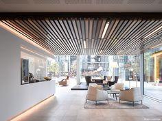 on Behance banking lobby Aviva London, TTSP. on Behance Corporate Office Design, Corporate Interiors, Workplace Design, Interior Design Images, Interior Design Companies, Office Interior Design, Design Services, Space Interiors, Hotel Interiors
