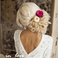 Wedding Hairstyles : Illustration Description side loose wedding updo with flowers Wedding Hairstyles For Long Hair, Wedding Hair And Makeup, Formal Hairstyles, Bride Hairstyles, Pretty Hairstyles, Bridal Hair, Hair Makeup, Hairstyle Ideas, Wedding Hair Blonde