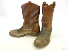 Red-Wing-9-inch-Logger-lineman-leather-brown-boots-size-13-EE-NEW