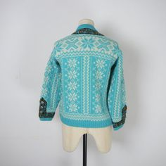 NORWEGIAN cardigan in pure new wool by SartorialMatters on Etsy
