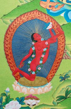 Vajrayogini (Detail B) - Images Of Enlightenment ~ Dakini As Art
