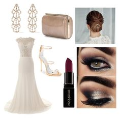 """""""Esmirie couture"""" by lisamarieweideman on Polyvore featuring Giuseppe Zanotti, Kenneth Jay Lane, Jimmy Choo, Smashbox, women's clothing, women, female, woman, misses and juniors"""