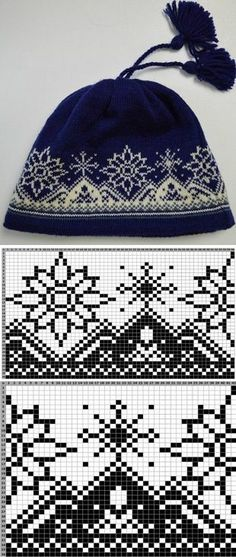 Jacquard pattern for a hat